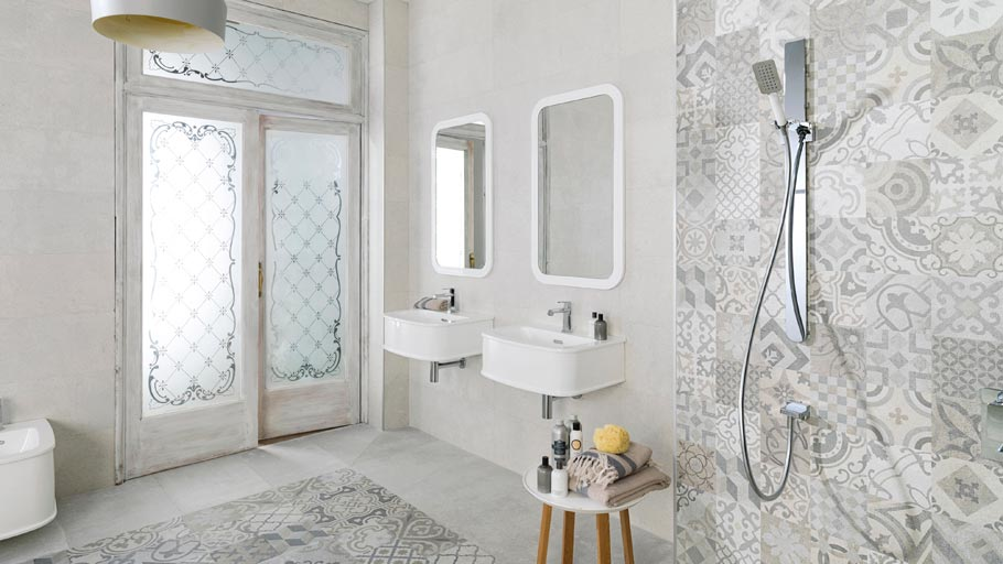 Hydraulic tiles: interior design revival to the style of the 19th-century France