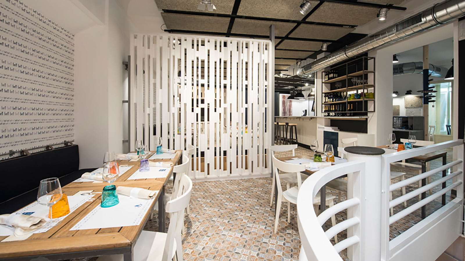 PORCELANOSA Group Projects: Mediterranean freshness in Bell restaurant in Roma, Italy