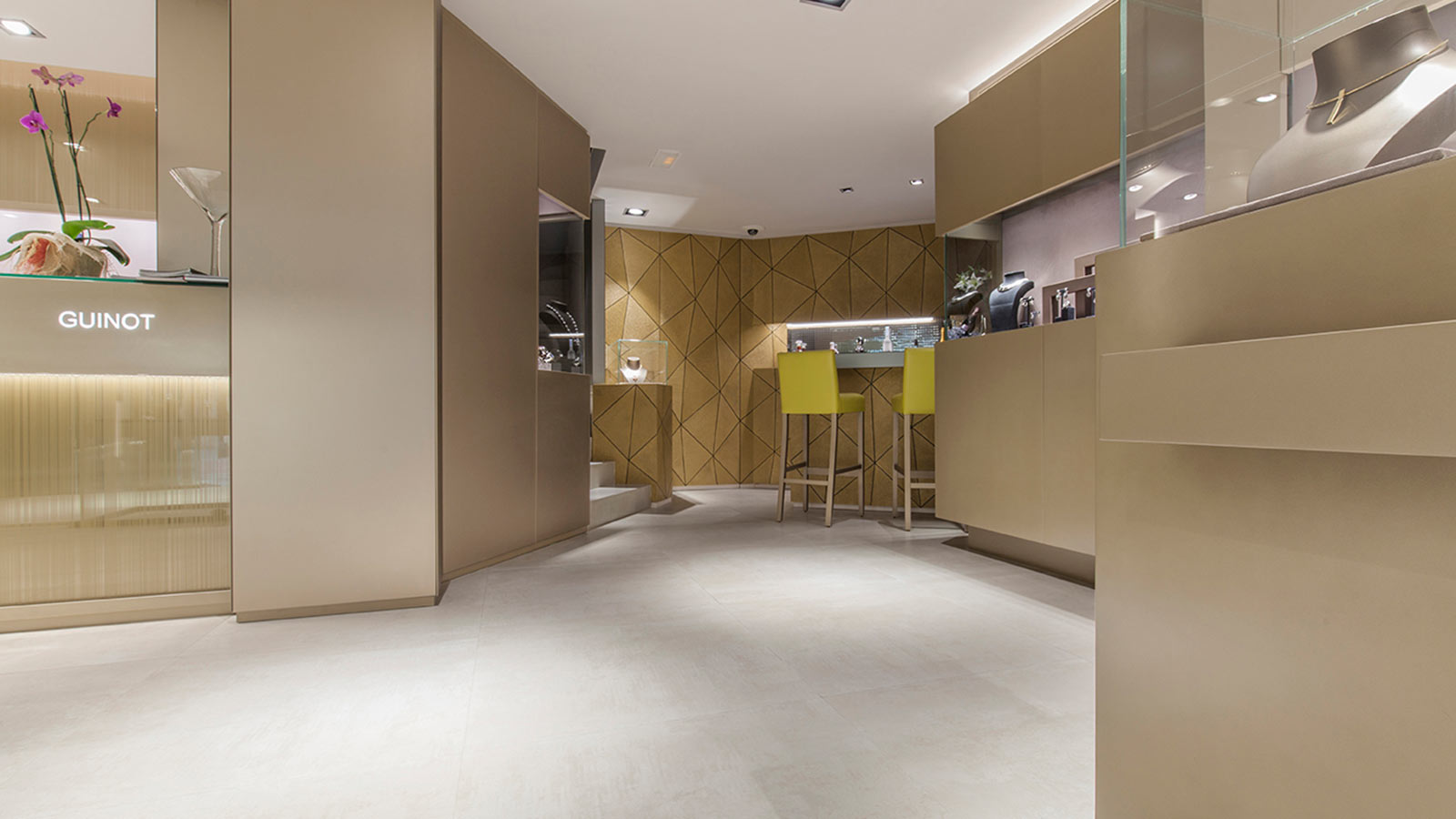 PORCELANOSA Grupo Projects: exclusivity and luxury, also in the materials from Carlos Guinot Jewellery