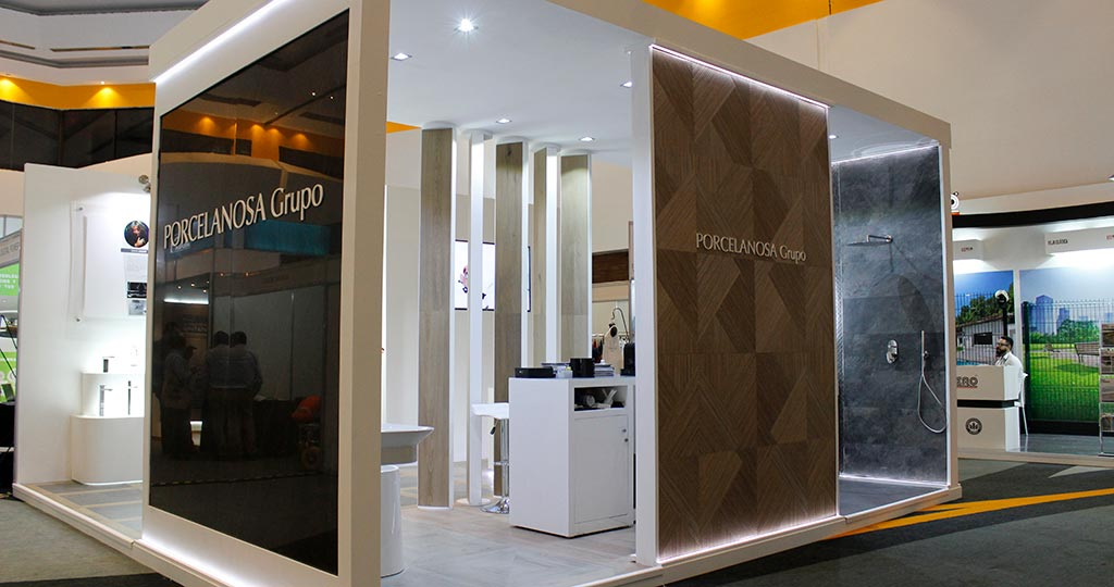 The PORCELANOSA Grupo shows its versatility for the contract sector at ExpHotel, Cancun