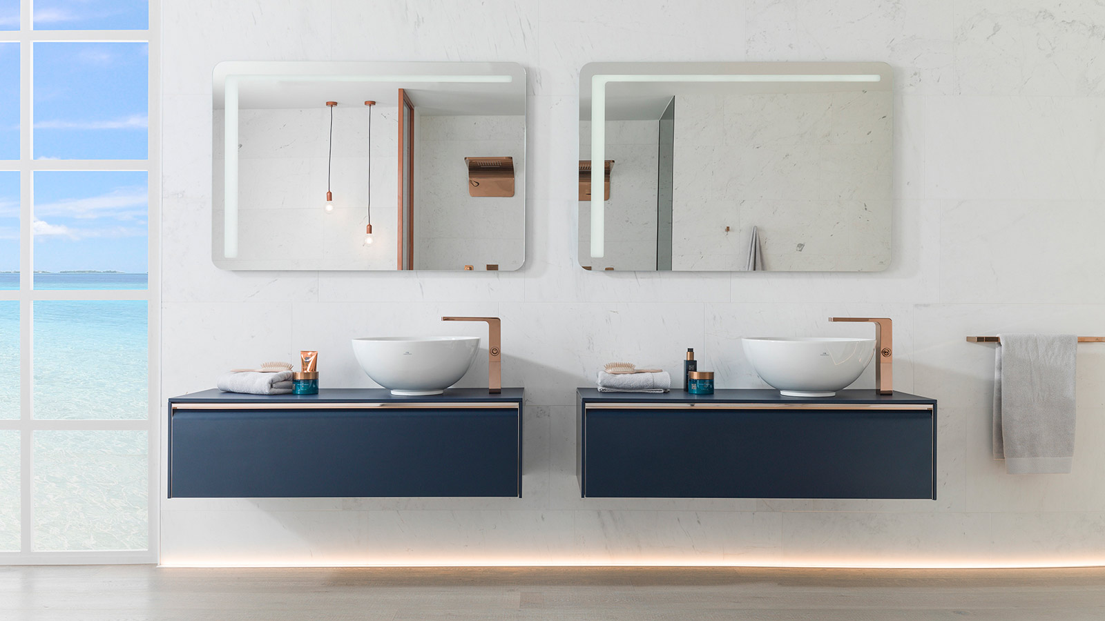 New finishes for the iconic Lounge collection by Simone Micheli: trend-setting bathrooms