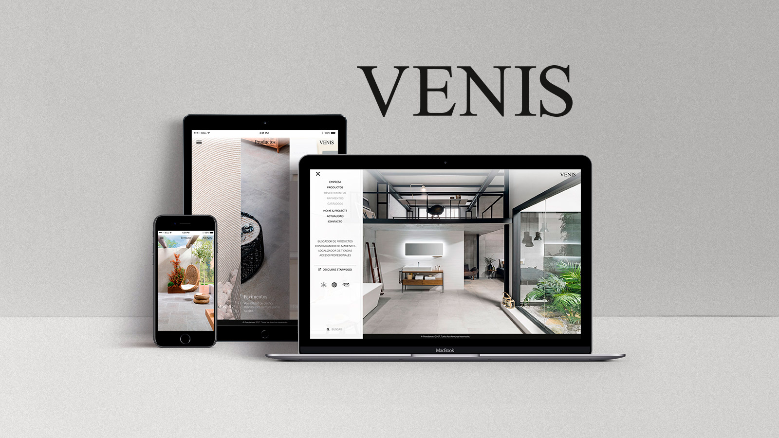 Venis presents its website and channels on the main social media networks