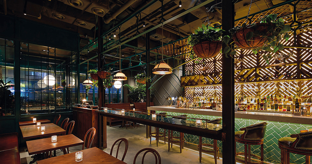 Projets du groupe PORCELANOSA : inspiration espagnole dans le restaurant The Optimist, Hong Kong (Chine)