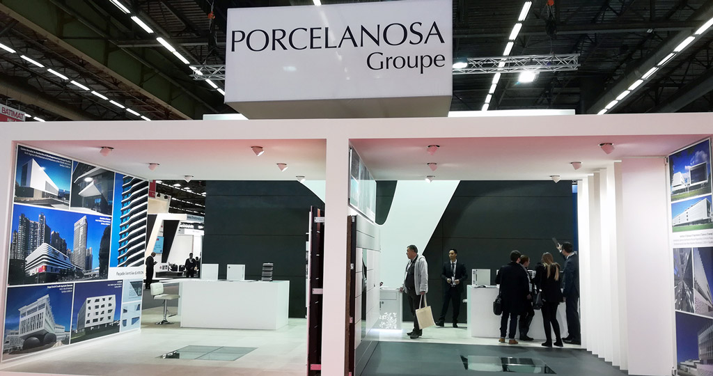 PORCELANOSA Grupo exhibits its latest designs in construction and architecture at the annual BATIMAT event in Paris