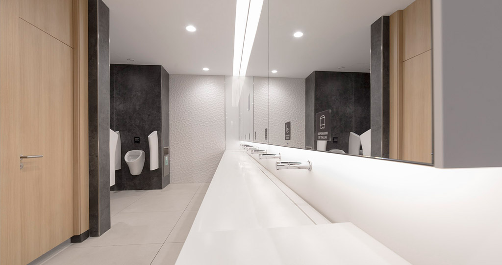 PORCELANOSA Grupo Projects: innovation and functionality in the bathrooms of the Plenilunio Shopping Centre