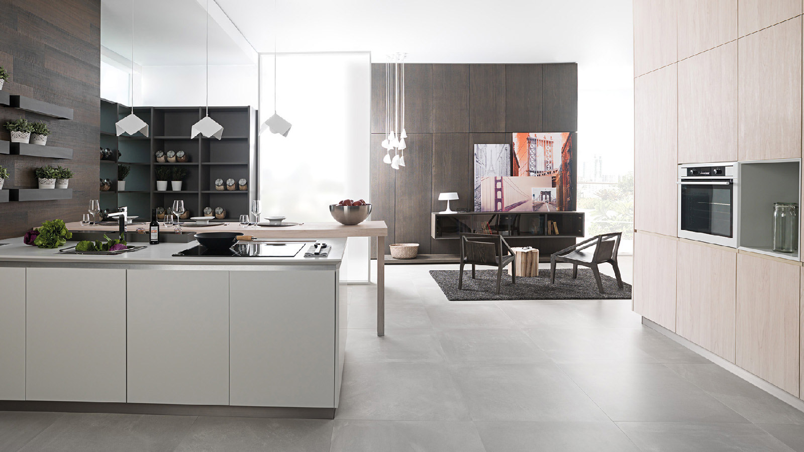 Trends in cement: kitchens made of aesthetic material