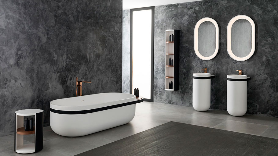 KRION® Bath pays tribute to the ancient Japanese culture by means of ARO