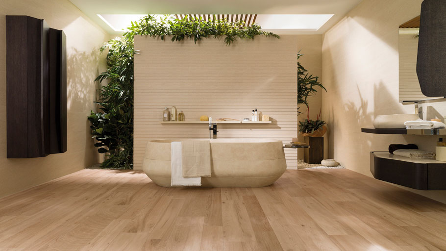 Integrate wood in the bathroom with a full guarantee
