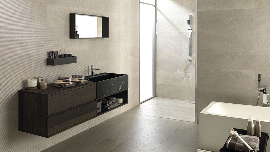 Icon, the iconic bathroom equipment from Gamadecor manufactured in natural materials