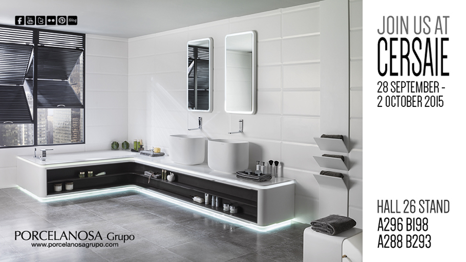 PORCELANOSA Grupo is preparing for the presentation of its latest designs in Cersaie 2015