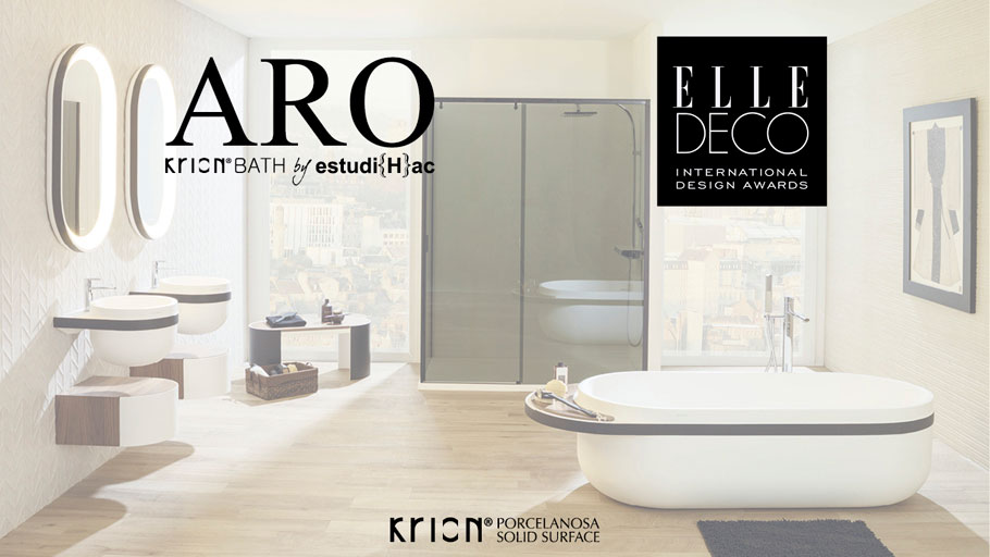 The ARO Collection from Krion® Bath, in the EDIDA Awards international final