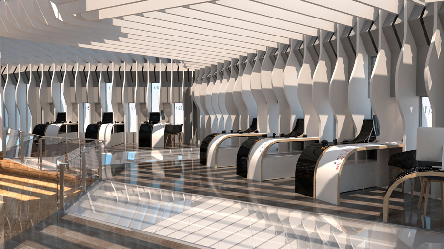 The 9th PORCELANOSA Group Awards Finalists in Future Students' Projects. Capturing light beams through interior design.