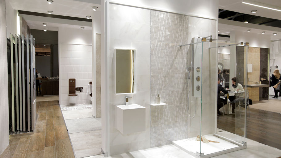 PORCELANOSA Grupo makes its debut and is awarded the best stand in Batimat, Rusia 2015