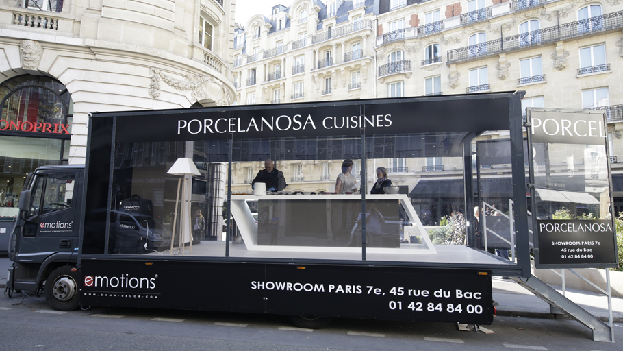 PORCELANOSA presents the Emotions kitchens by means of a culinary roadshow in Paris