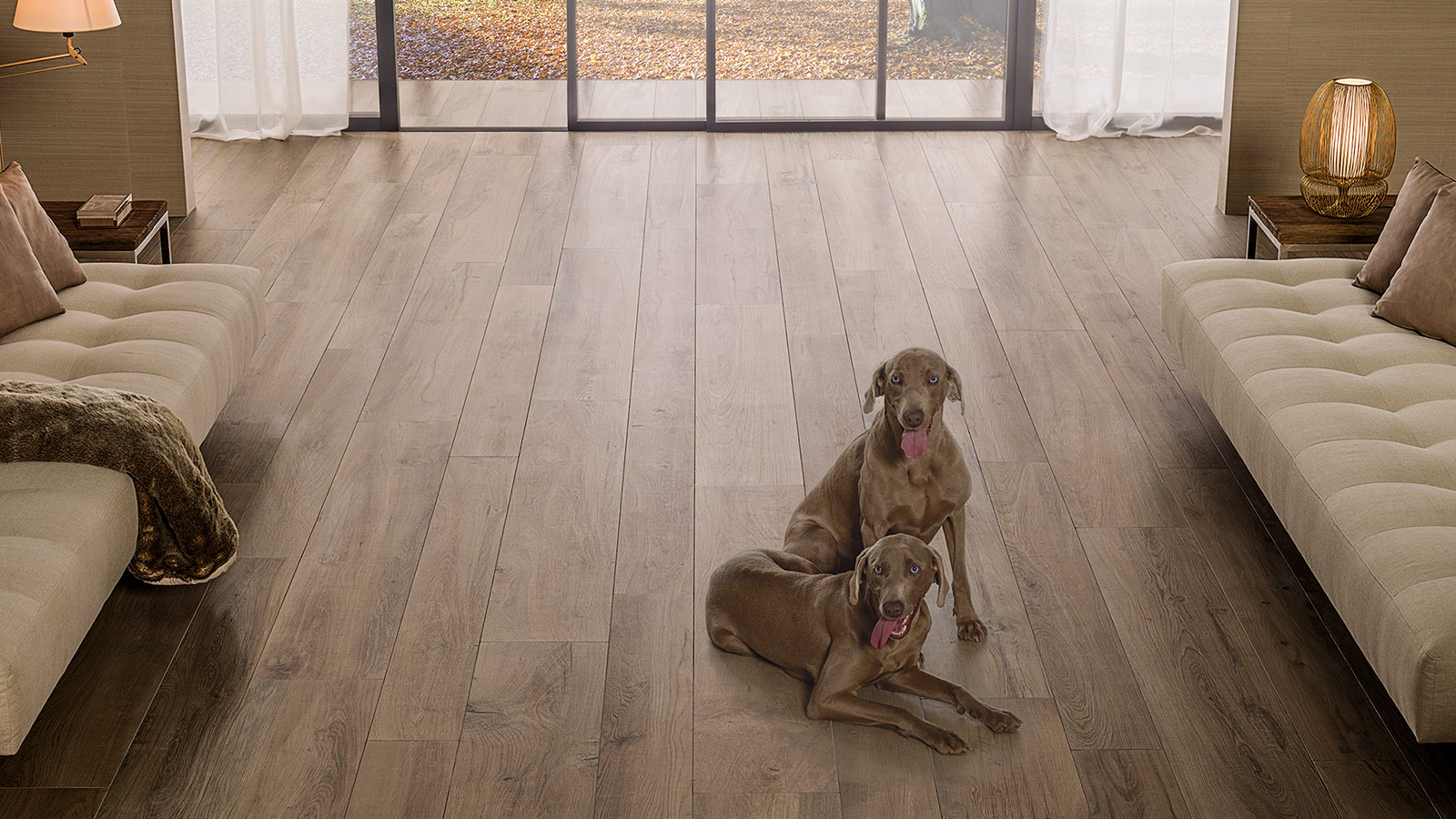 GET THE LOOK: we combine interiors and exteriors with the PAR-KER Manhattan ceramic parquet