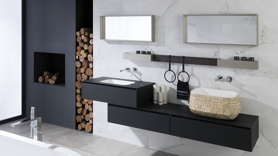 Soft: technological finishes in the new bathroom furniture by Gamadecor