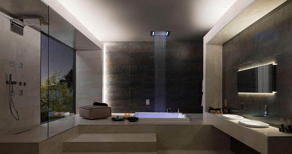 Hydrotherapy: bathroom fittings for relaxing and with therapeutic characteristics