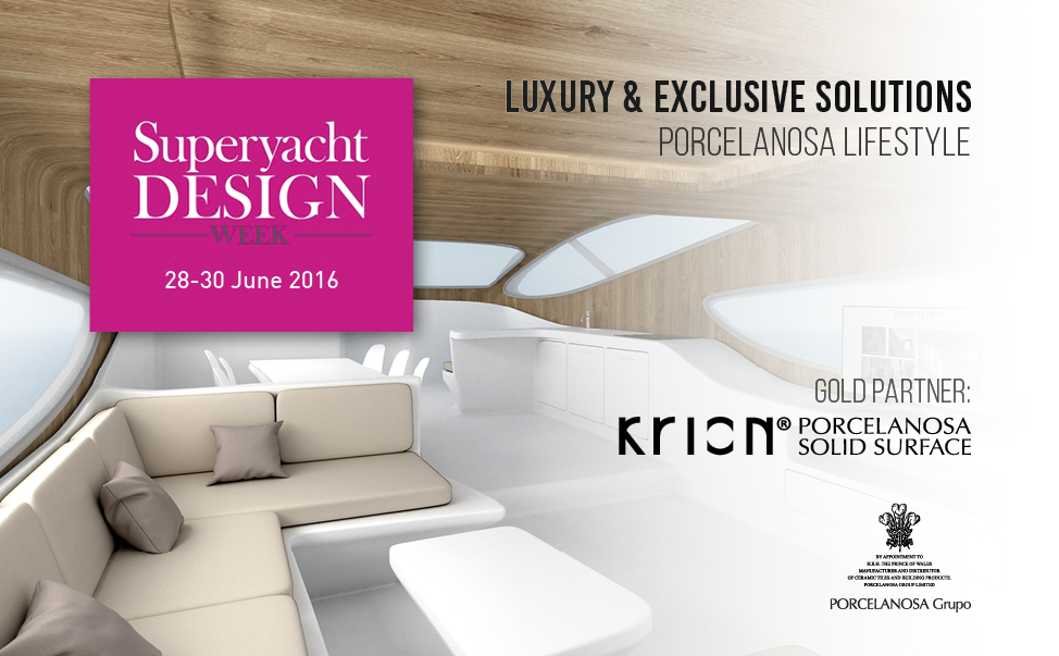 KRION® viene presentato all'industria nautica nella SuperYacht Design Week