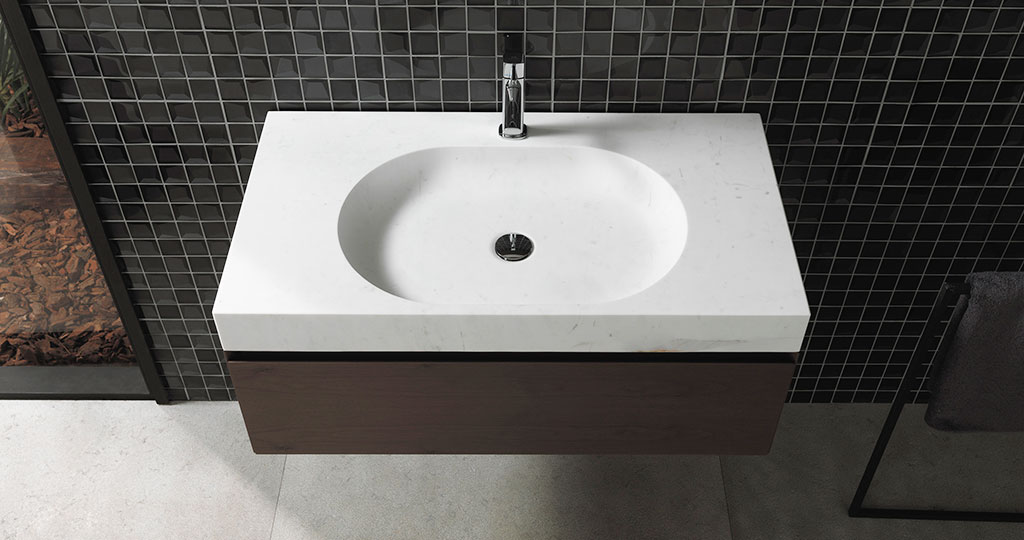 New Karon basins and complements for the bathroom from L'Antic Colonial: natural stone for modern bathrooms