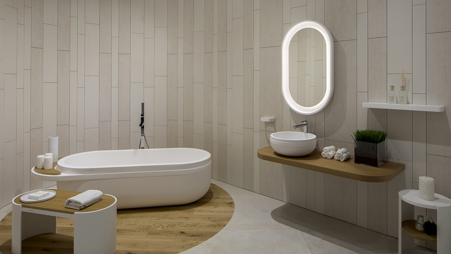 Japanese tea ceremonies inspire Aro, the estudi{H}ac collection for Krion® Bath