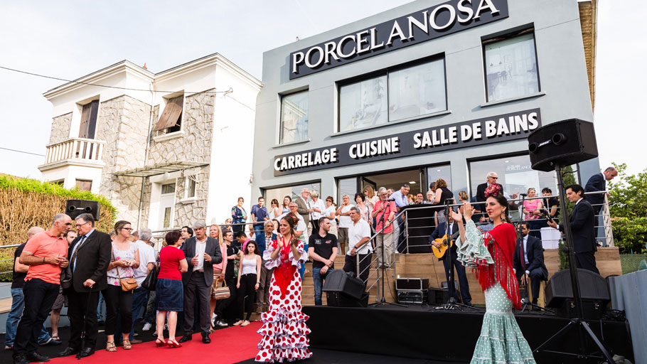 The new PORCELANOSA Grupo showroom in Perigueux, France