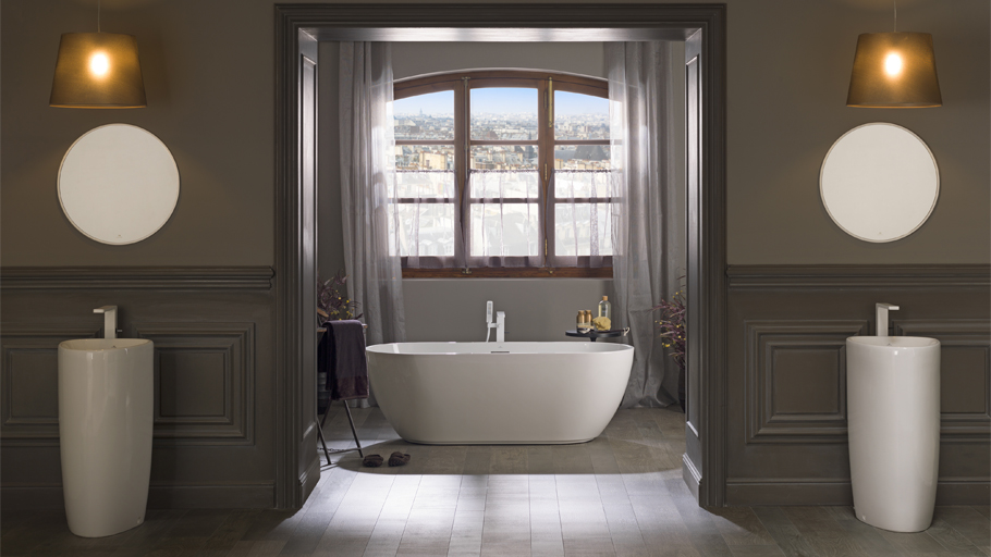 Ideas for your bathroom: sophistication in the PORCELANOSA Grupo freestanding bathtubs and basins