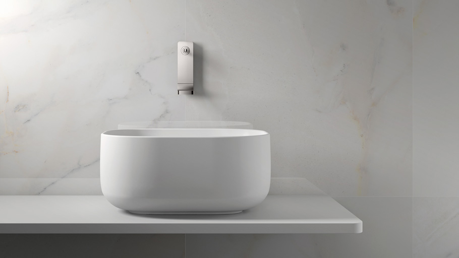 Unique bathrooms with the Unique Series by Krion®