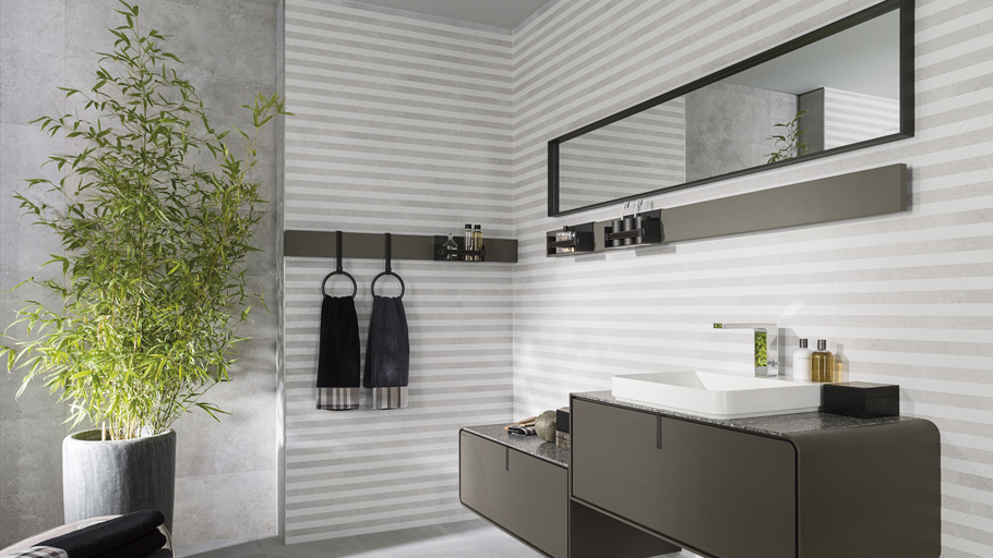 Porcelanosa combines finishes and textures in the Belice ceramic borders