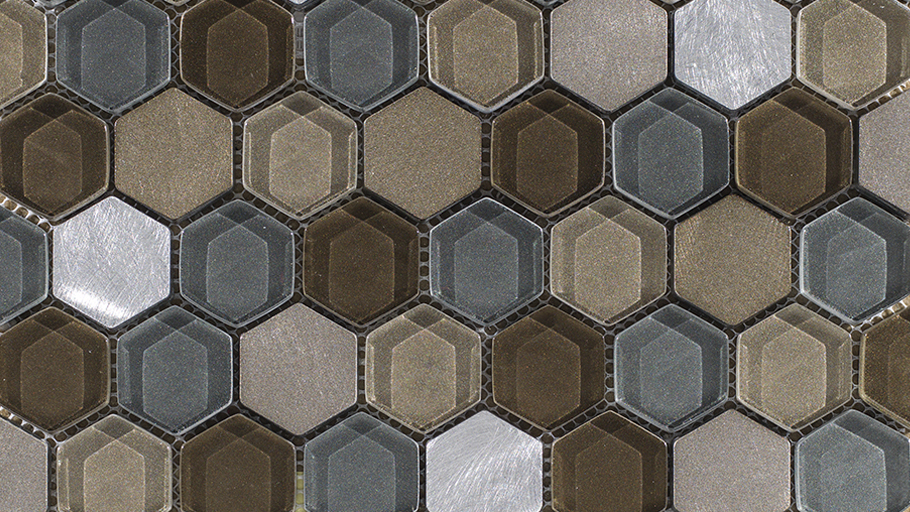 New hexagonal mosaics for the Fusion collection, by L'Antic Colonial
