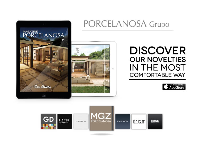 PORCELANOSA Group presents its virtual magazine for iPad