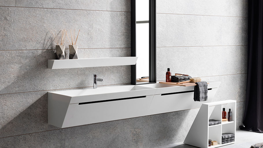 Bevel by Gamadecor: geometrically perfect bathrooms