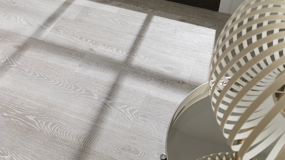 Chester, the new ceramic parquet with 'white wash' effect by Porcelanosa