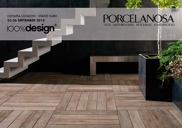 PORCELANOSA Grupo exhibits its latest products at 100% Design