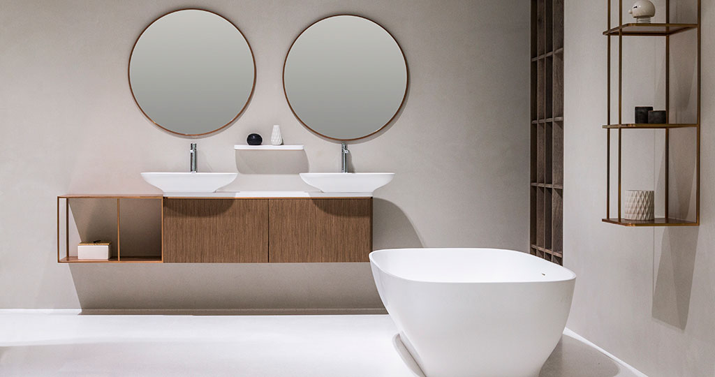 PURE bathrooms by Yonoh: elegance and a wide range of combining options done by KRION® BATH