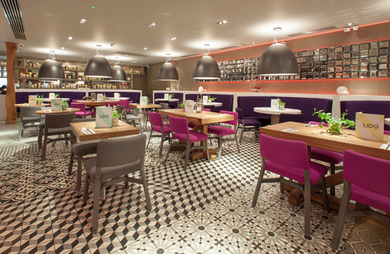 PORCELANOSA Group Projects: Lido restaurant, Troon (United Kingdom)
