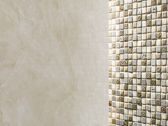 Combinations 2014: a world of possibilities made with mosaics tiles and porcelain