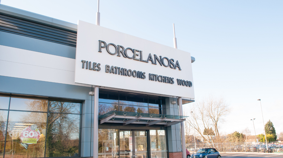 New Porcelanosa showroom in Cannock (United Kingdom)