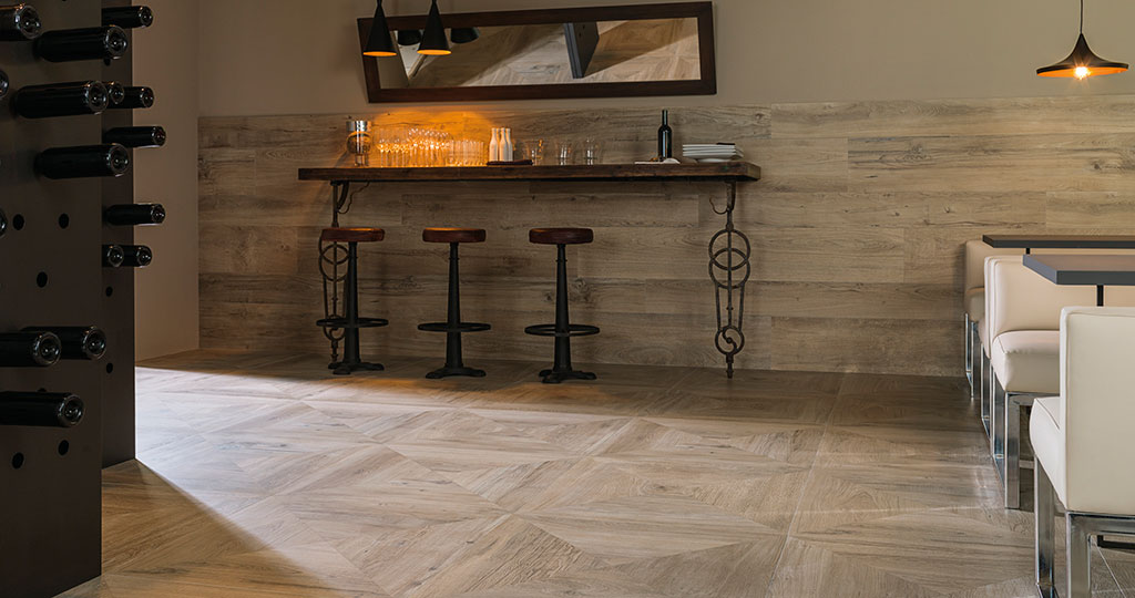 Heritage by Porcelanosa: craftsmanship turned into ceramic parquet