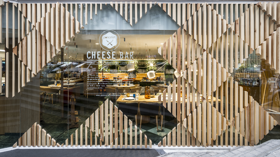 Projects PORCELANOSA Grupo : Poncelet Cheese Bar Barcelona by estudi{H}ac