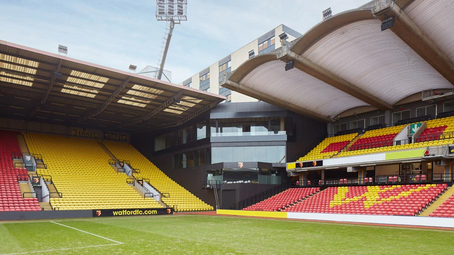 PORCELANOSA Grupo Projects: quality is present at Watford FC football stadium
