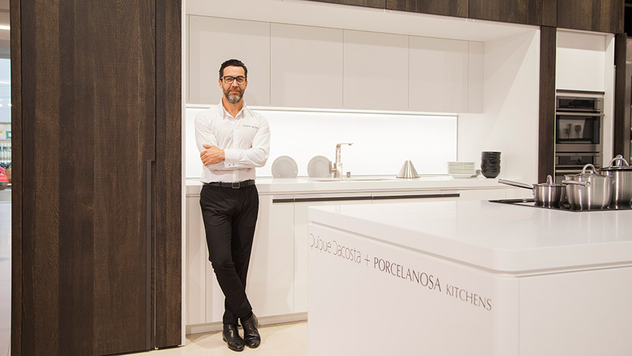 Quique Dacosta's kitchen for the PORCELANOSA Grupo right in the heart of London
