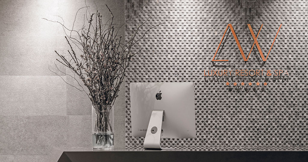 New Mirage Deco ceramic wall tile: 'scaly' stone for the most authentic interiors