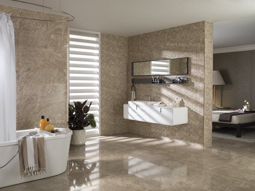 Verona: romantic colouring for Porcelanosa's ceramic flooring and coverings