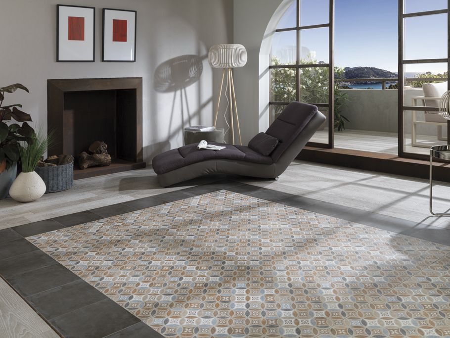 Cersaie 2014: Porcelanosa brings back the vintage charm of hydraulic tiles