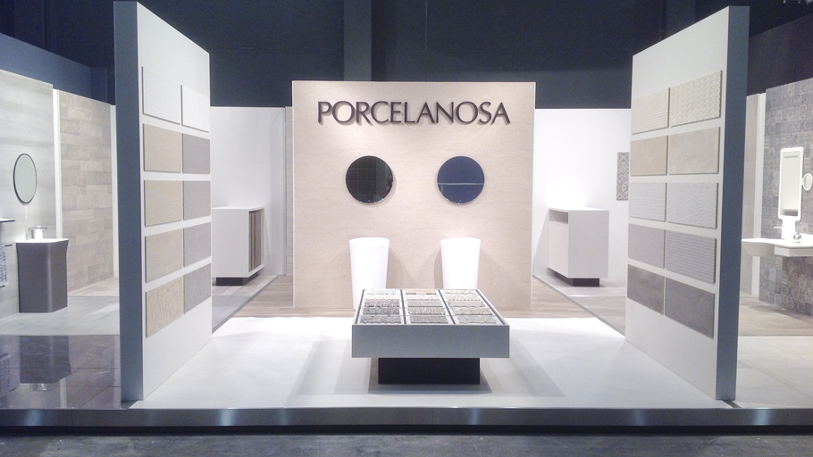 PORCELANOSA Group's designs at Biennale Interieur Fair, 2014