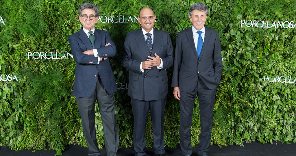 Isabel Preysler, Amaia Salamanca, Pepe Barroso and Nieves Álvarez along with other invited guests, celebrate the opening of the new Porcelanosa Showroom in Madrid