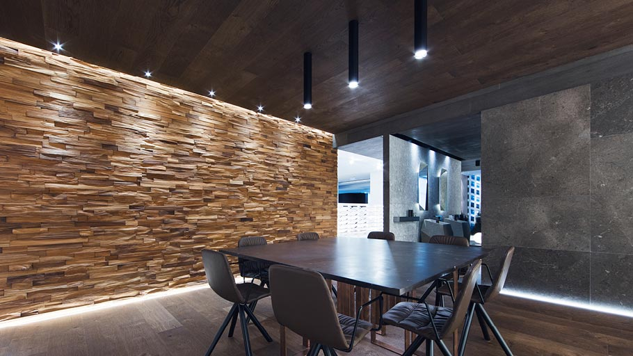 Wood Wall Mosaics: from pure wood to interior designs