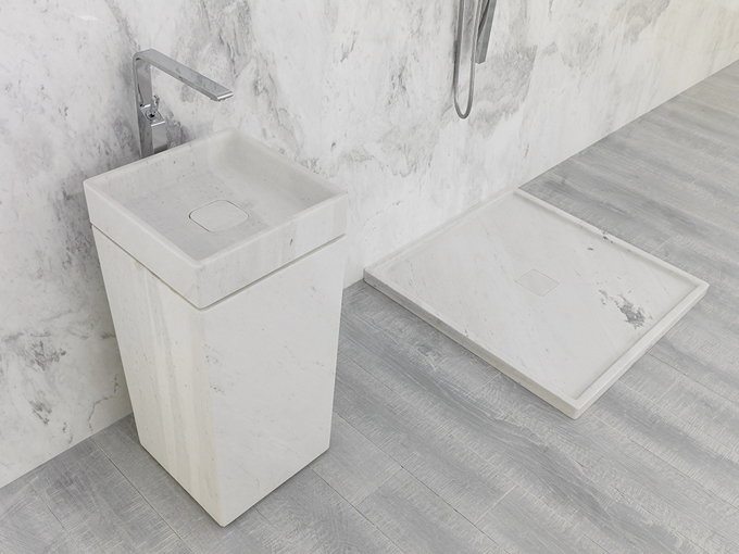 L'Antic Colonial shapes natural stone in its new Basic collection for bathrooms
