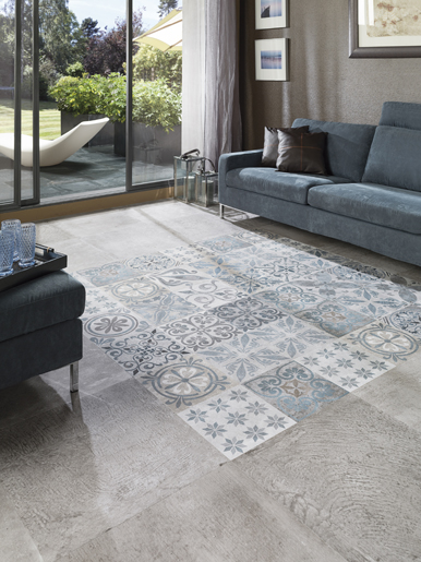 Porcelanosa recovers the charm of hydraulic tiles with the Antique collection