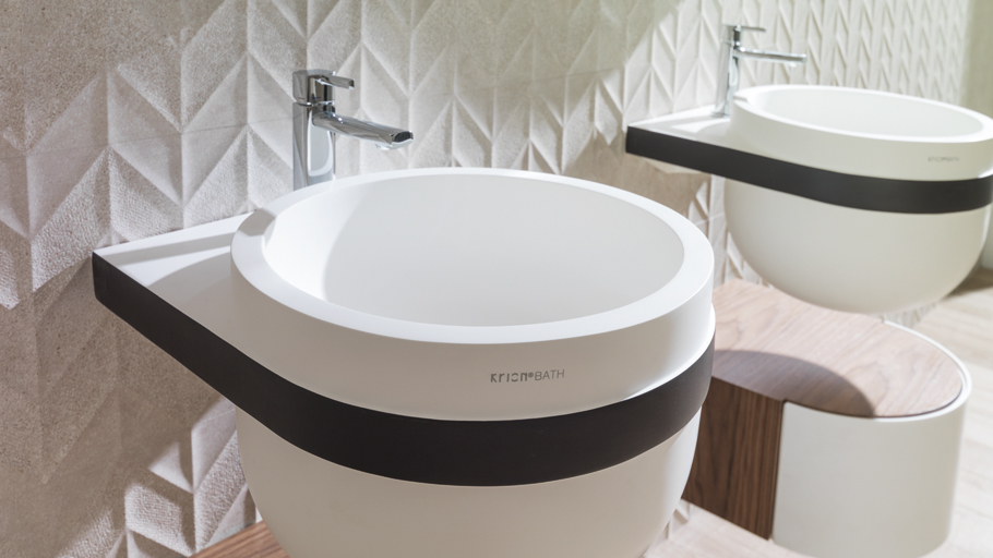 The ARO collection by Krion® Bath by estudi{H}ac, nominated for the EDIDA Elle Decor awards